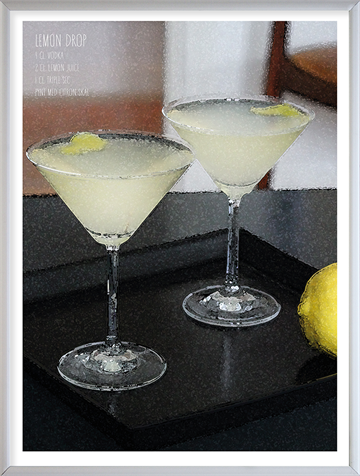 Foto af cocktail plakat - Lemon Drop
