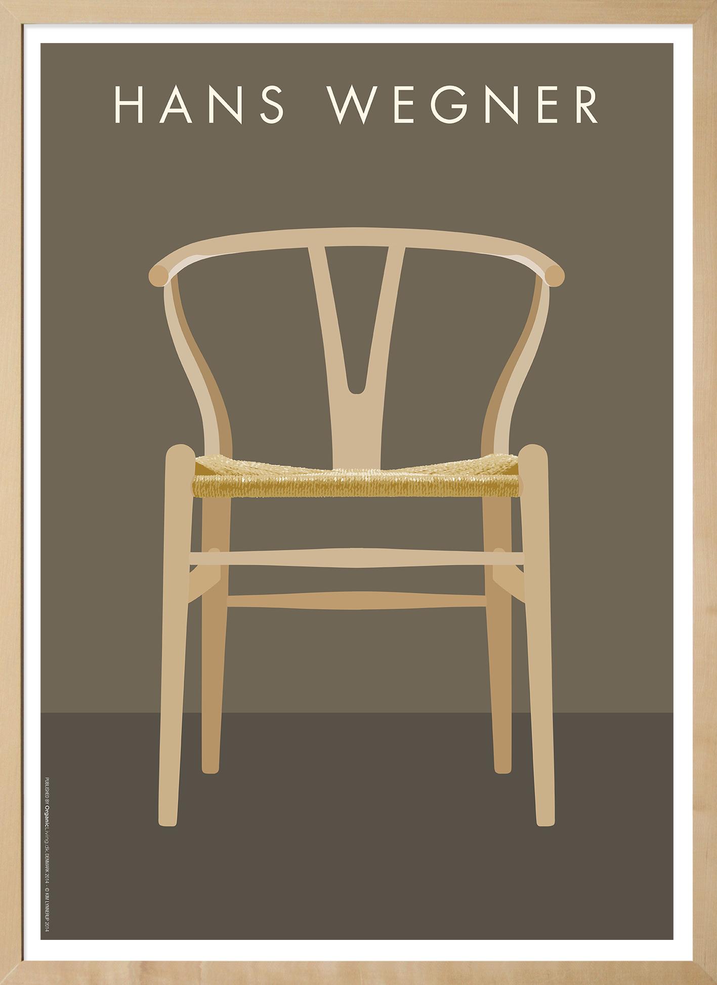plakat den ber mte y stol m belarkitekt hans j wegner. Black Bedroom Furniture Sets. Home Design Ideas
