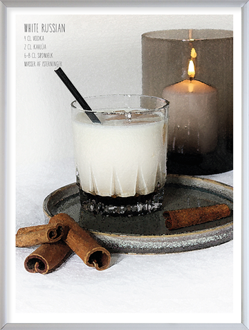 Foto af White Russian cocktail plakat